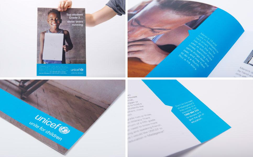 Unicef brochure design samples unpublished work
