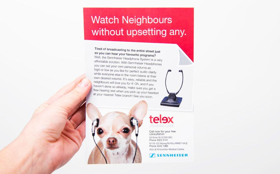 Telex Hearing Care flyer design