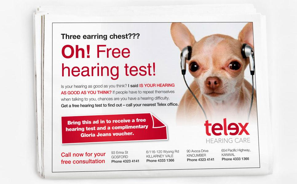 Telex Hearing Care press ad design