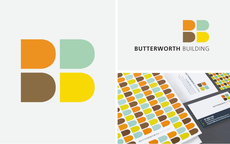 Butterworth Building logo design