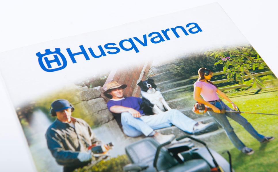 Husqvarna brochure design cover