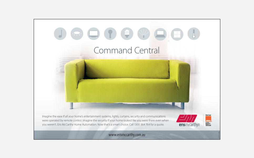 Eris McCarthy command central press ad design