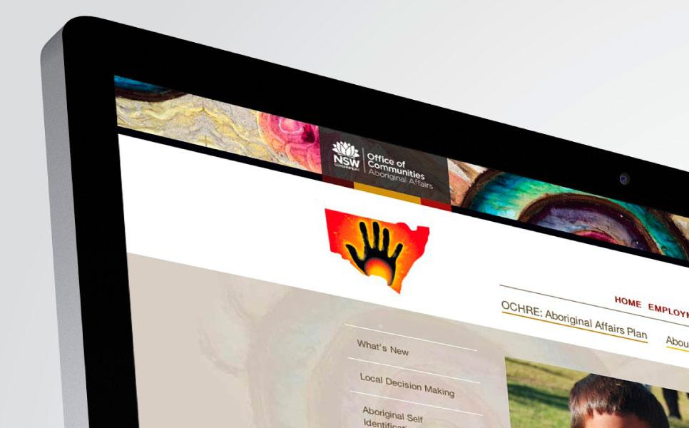 Aboriginal Affairs NSW website design