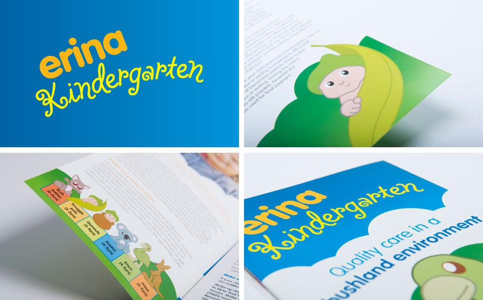Erina Kindergarten logo design and illustrations