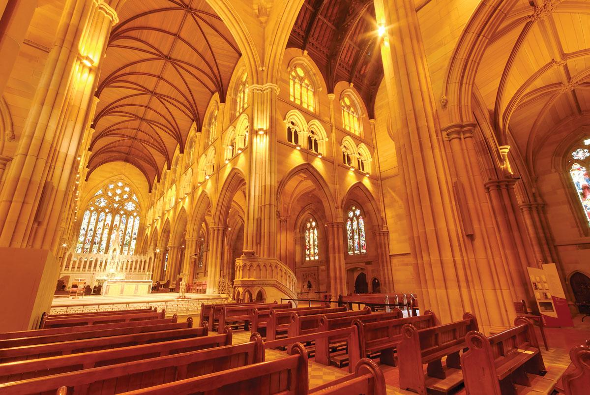 St Mary's Cathedral Sydney beautiful internal photography