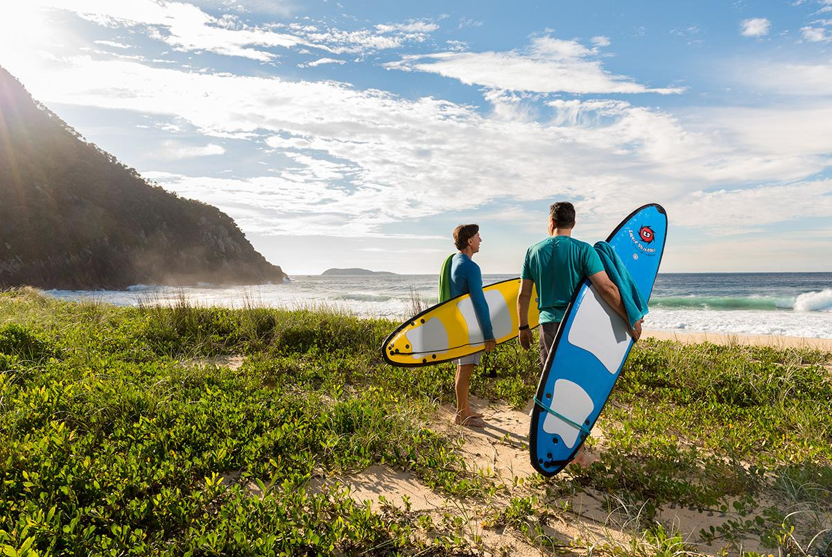 Surfing in Port Stephens